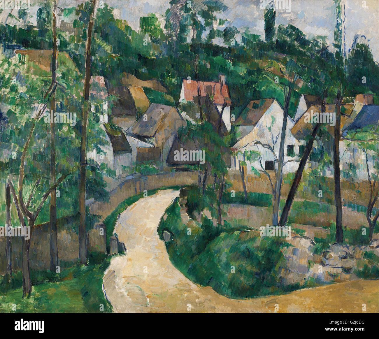 Paul Cézanne - tournez dans la route - Musée des beaux-Arts, Boston Photo Stock