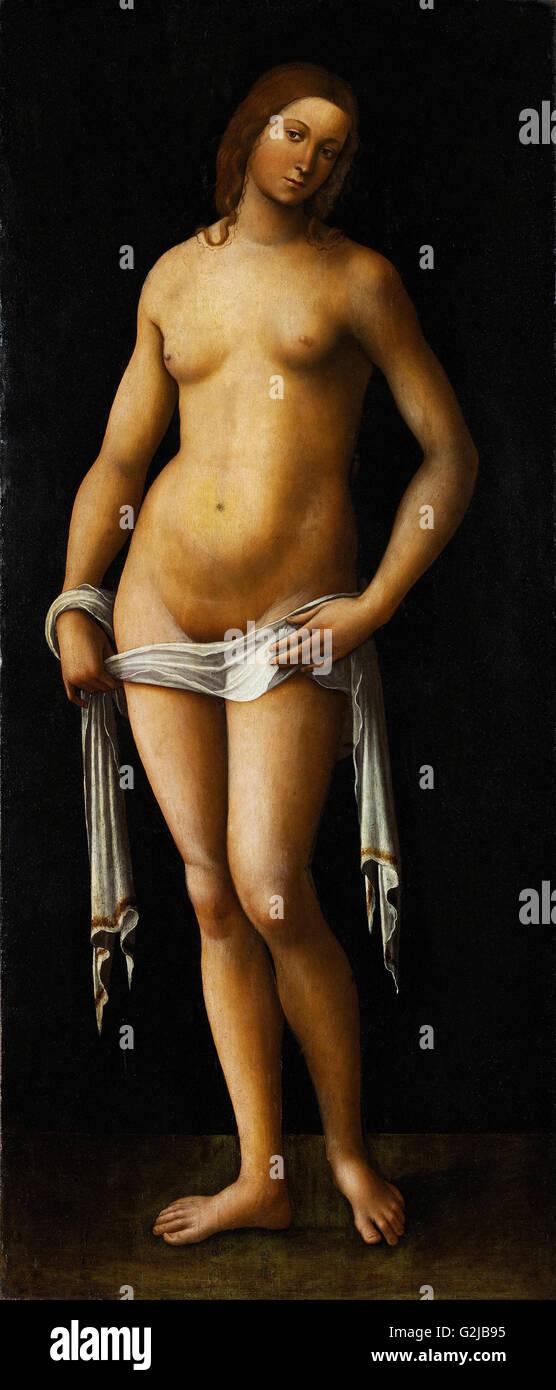 Lorenzo Costa - Vénus - Musée des beaux-arts, Budapest Photo Stock