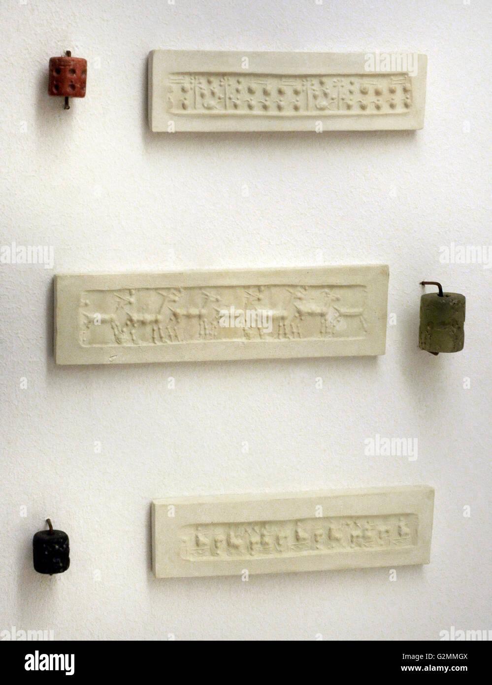 Enveloppe de la période d'Ur III avec une impression d'un cylindre joints. (22ème 21ème BC). Photo Stock