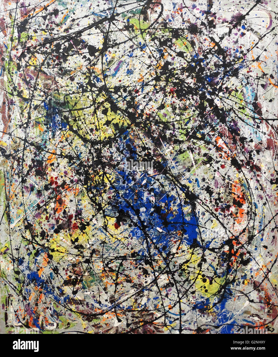 Reflet De La Grande Ourse Peinture Sur Toile Par Jackson Pollock 1912 1956 Est Un Peintre Americain Avec Une Figure Majeure De L Expressionnisme Abstrait Il Etait Bien Connu Pour Son Style Unique De
