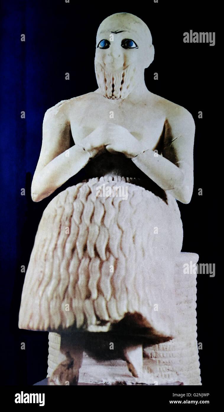 La figure d'un temple sumérien à Mari Photo Stock