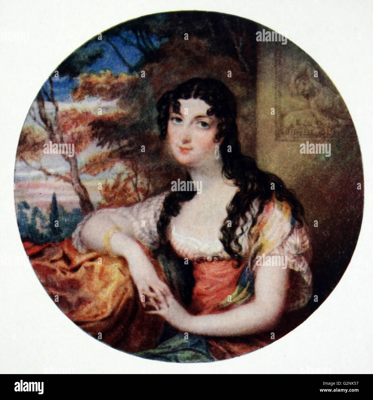 Sarah Villiers, comtesse de Jersey, un aristocrate anglais, la fille aînée de John Fane, 10e comte de Westmoreland et Sarah Anne Enfant, par Lewis Vaslet de Bath (1770-1808) Banque D'Images