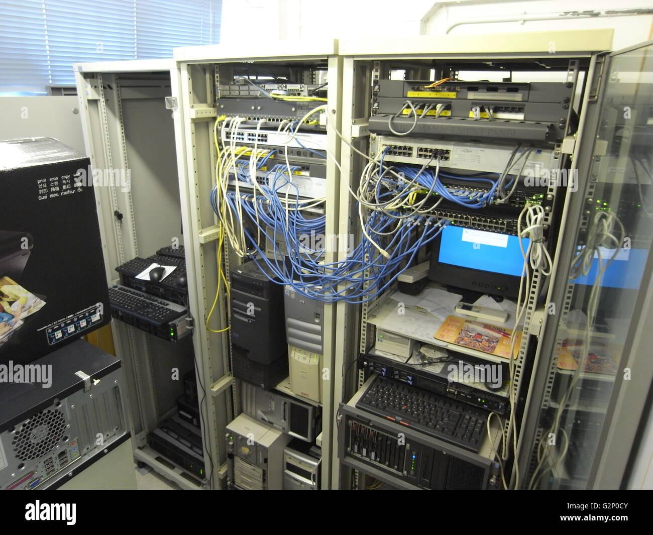 Serveur de lordinateur hôte internet par câble port hack hacker