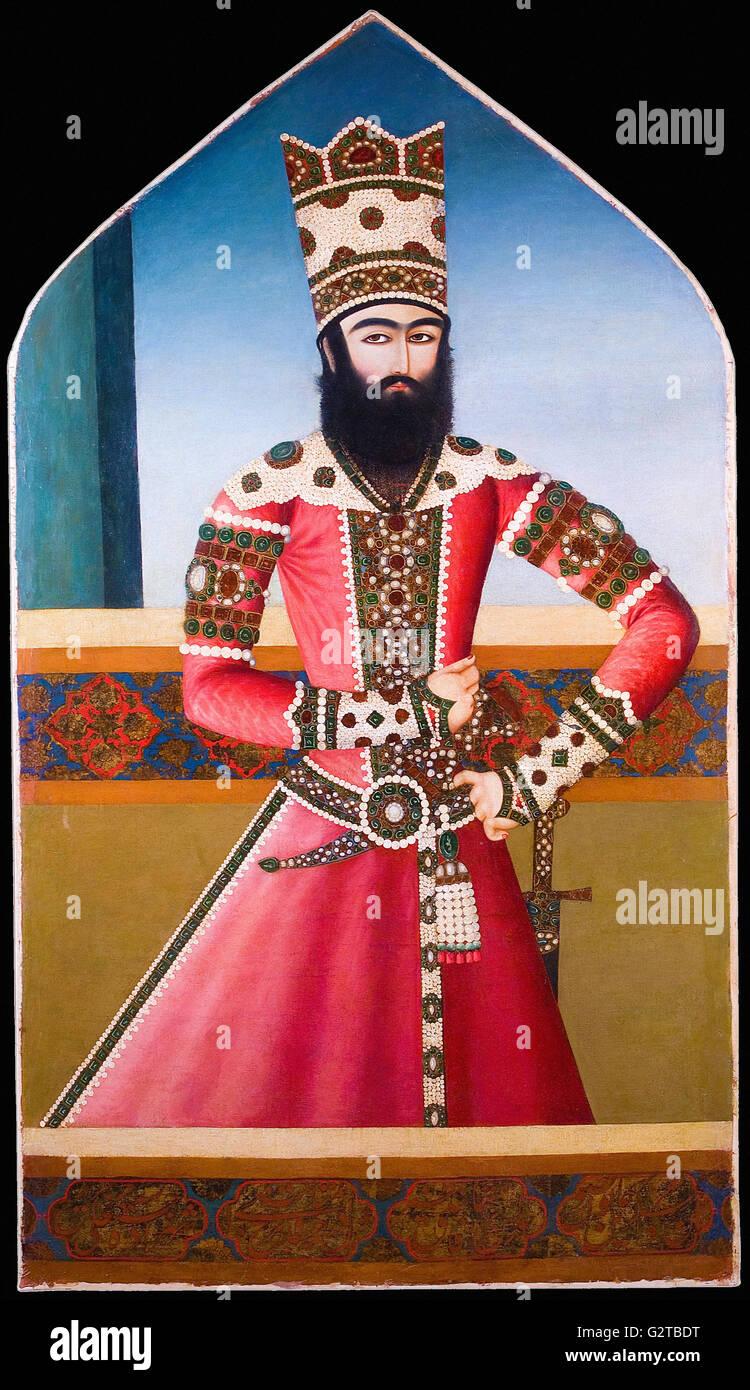 Inconnu, l'Iran, début du xixe siècle - Portrait d'Hasan 'Ali Mirza Shuja al-Saltana - Photo Stock