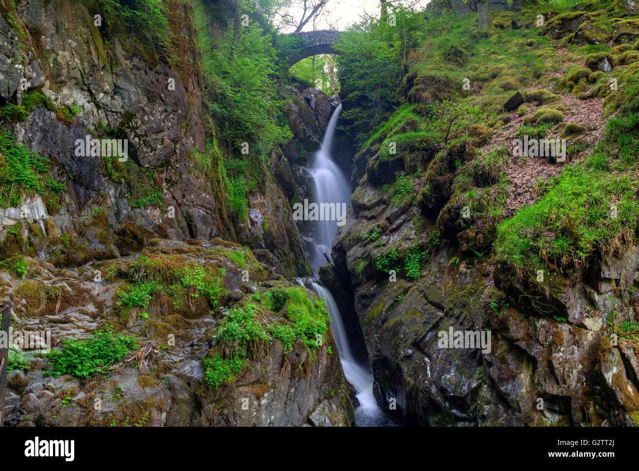 Aira Force, Watermillock, Lake District, Cumbria, England, UK Photo Stock