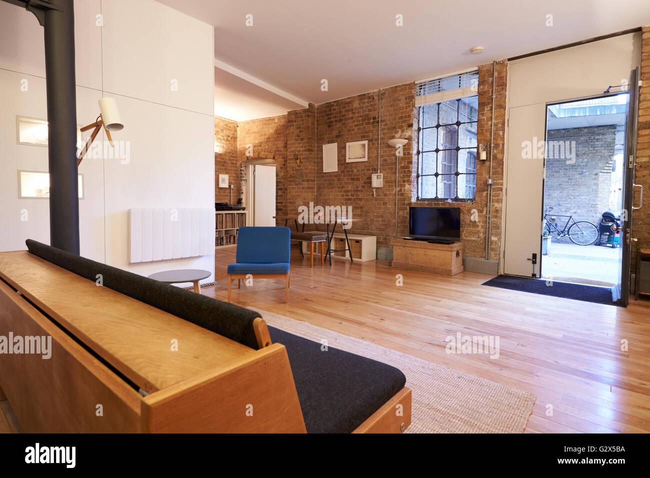 Vide de l'intérieur de cet appartement moderne Photo Stock