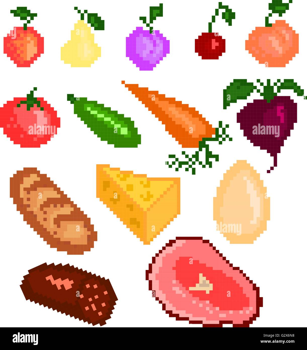 Nourriture Pixelart Vecteurs Et Illustration Image