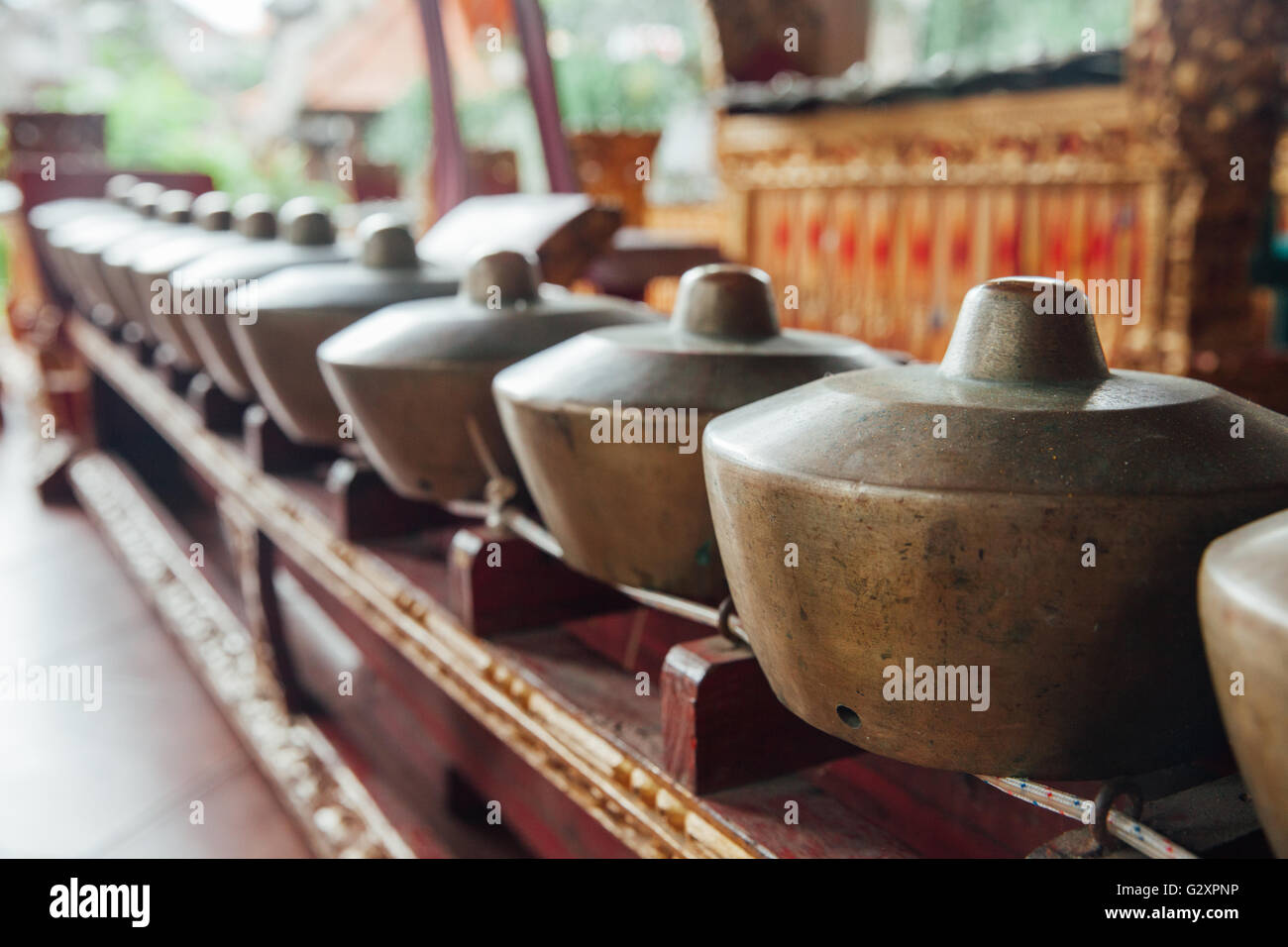 Instruments de musique percussive traditionnelle balinaise 'instruments de gamelan' musique d'ensemble, Photo Stock