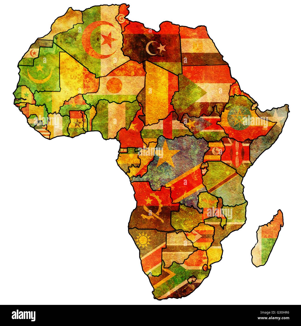Carte Union Africaine.Union Africaine Sur L Ancienne Carte Politique De L Afrique