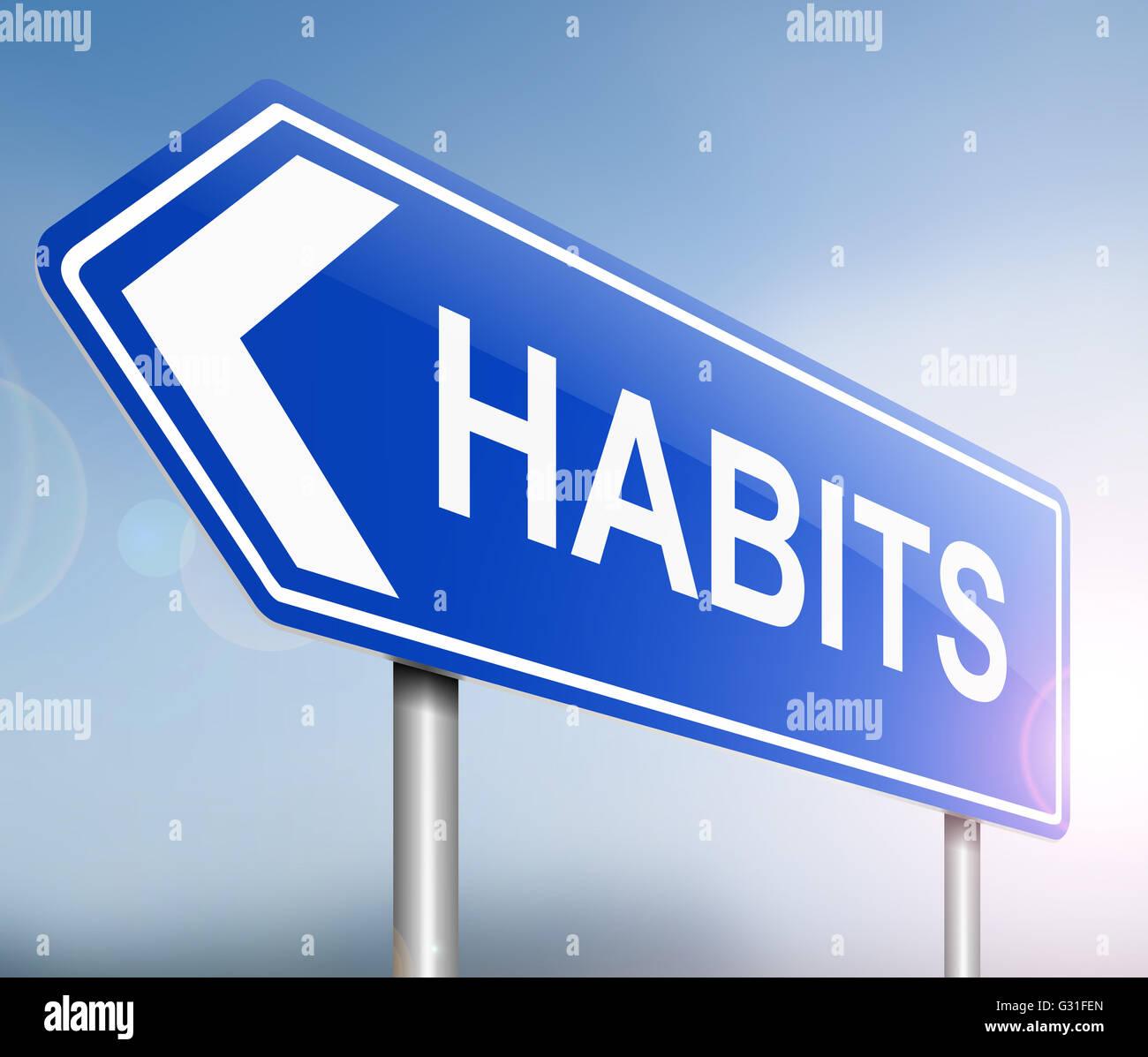 Concept d'habitudes. Banque D'Images
