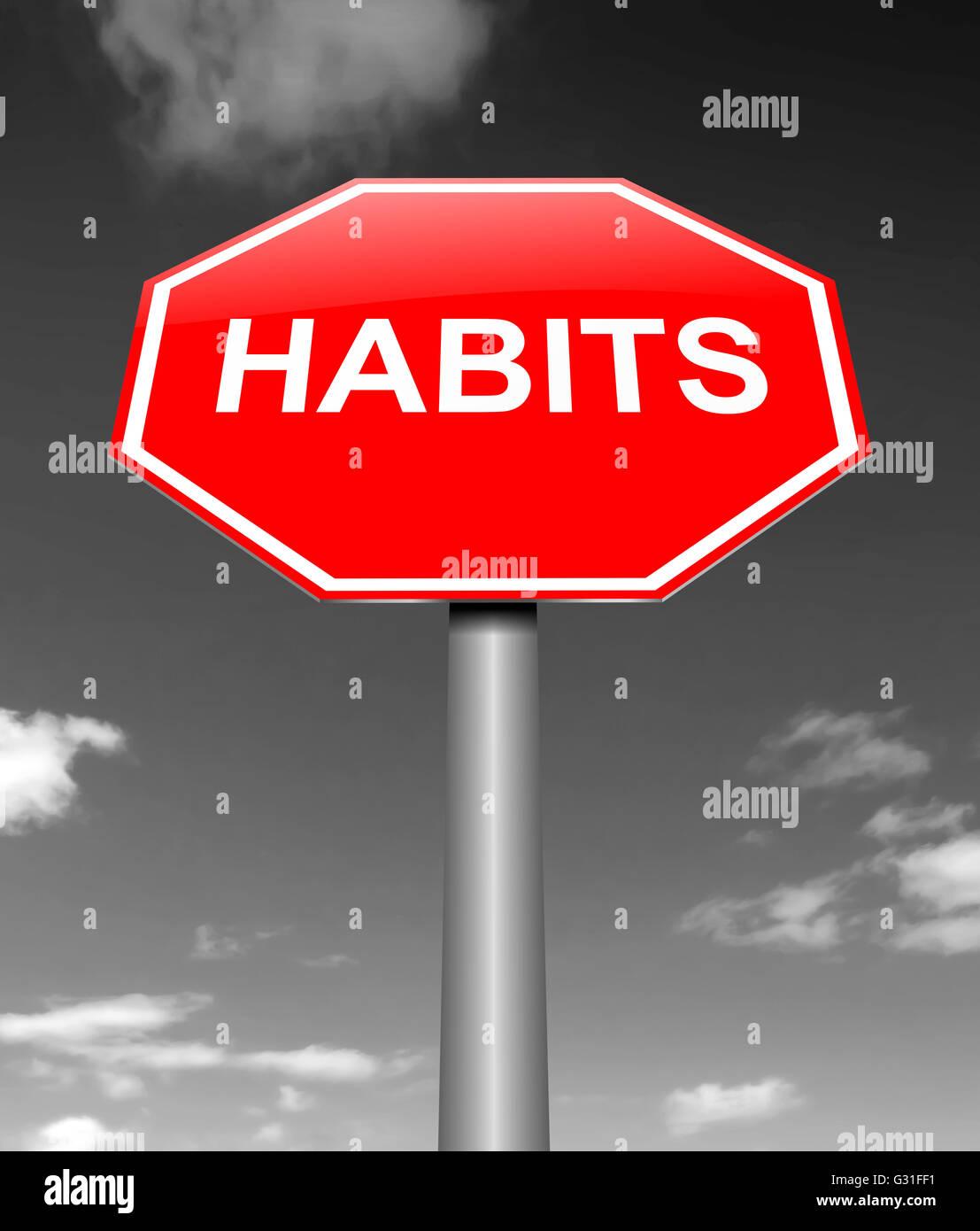 Concept d'habitudes. Photo Stock