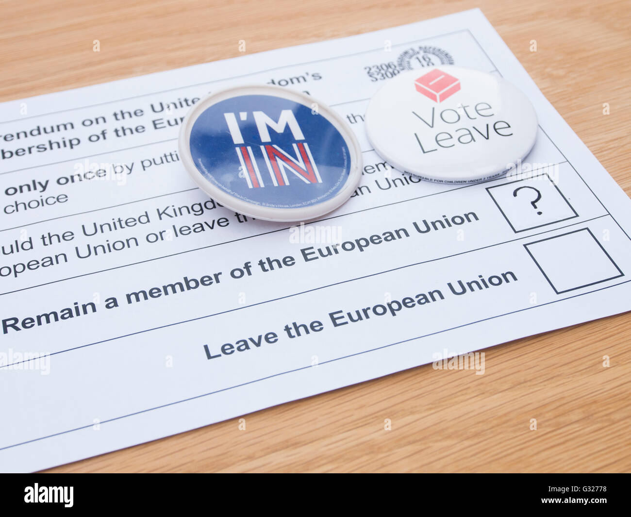 Exeter Uk 7 Juin 2016 Referendum De L Union Europeenne Le Vote Par