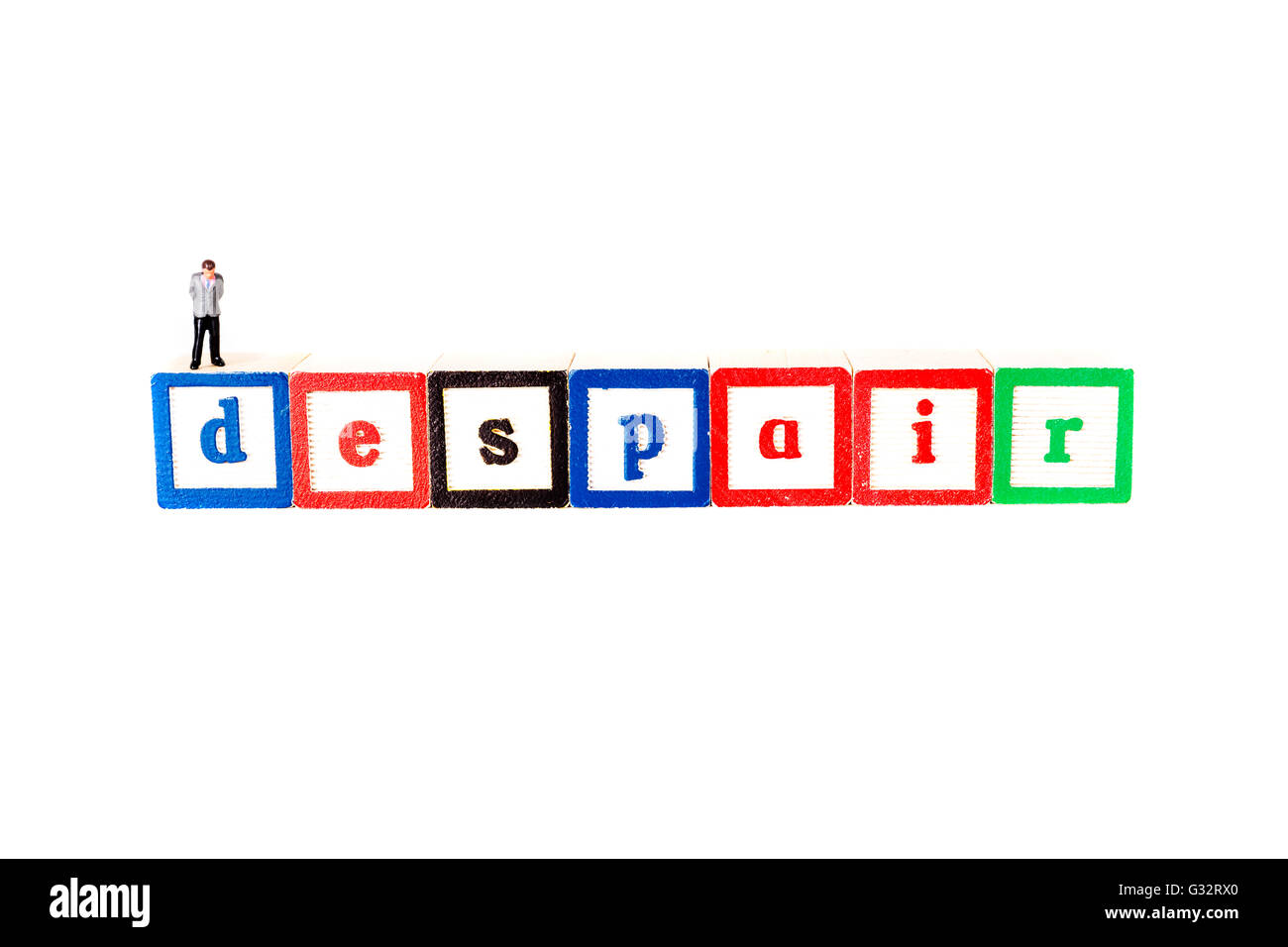 Le désespoir la perte complète ou l'absence d'espoir désespoir désespoir Angoisse Détresse Photo Stock