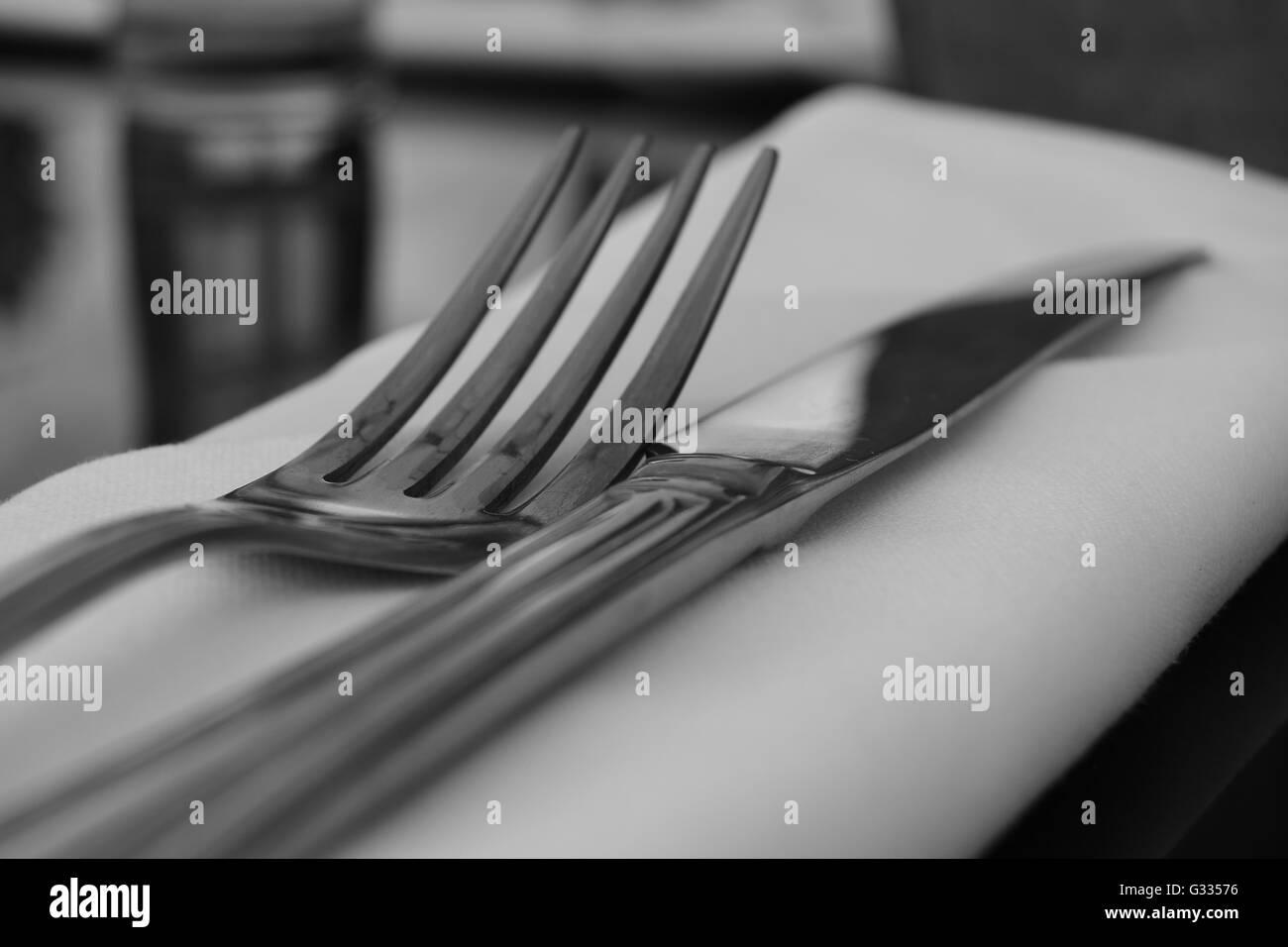 Couteau et une fourchette Photo Stock
