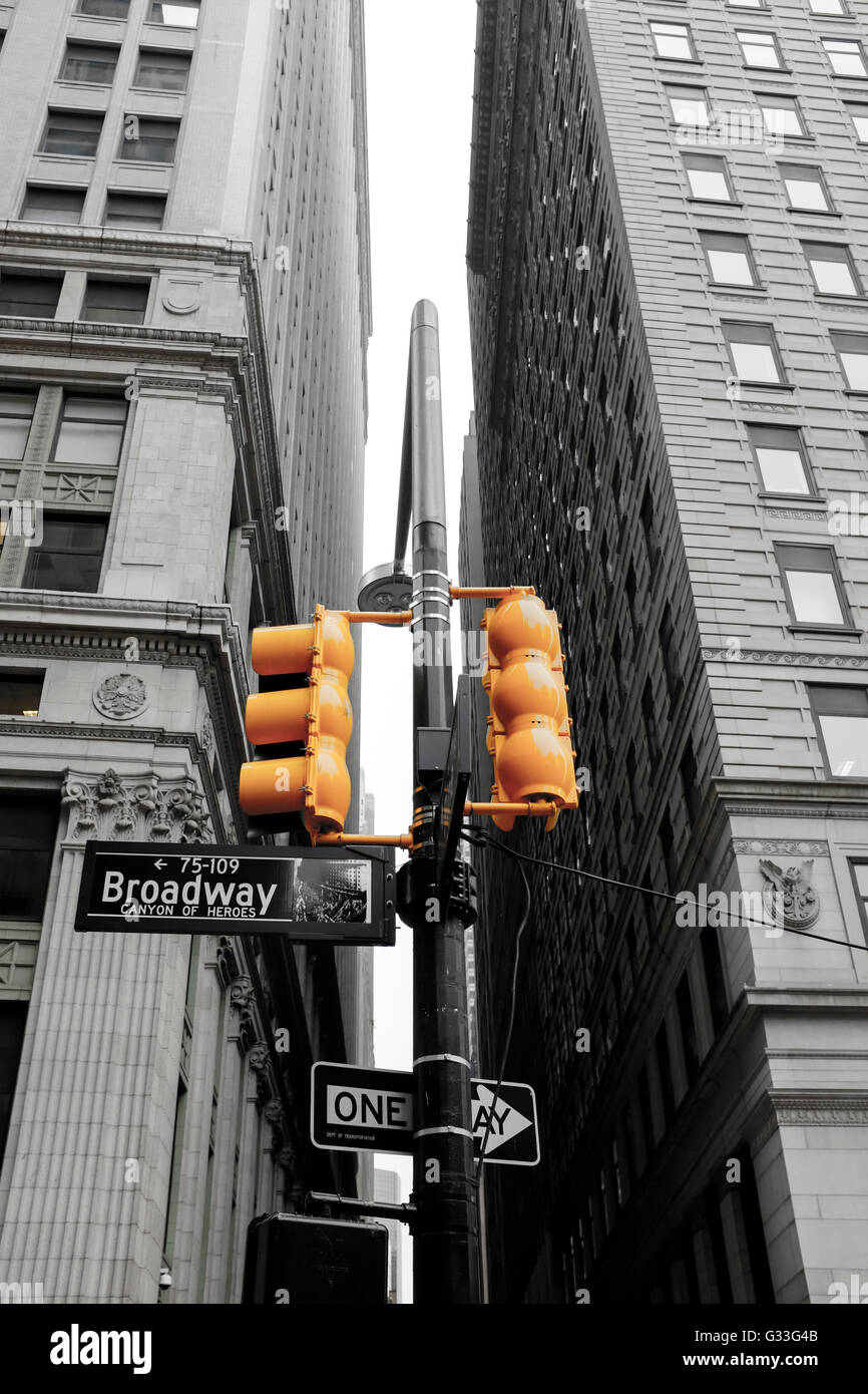 Signe de la rue Broadway, Manhattan, New York, USA Photo Stock