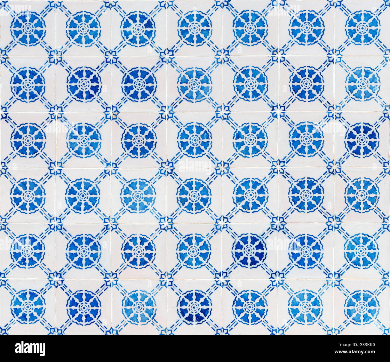 Modèle sans couture faite de carrelage portugais traditionnel - Azulejos, Portugal Photo Stock