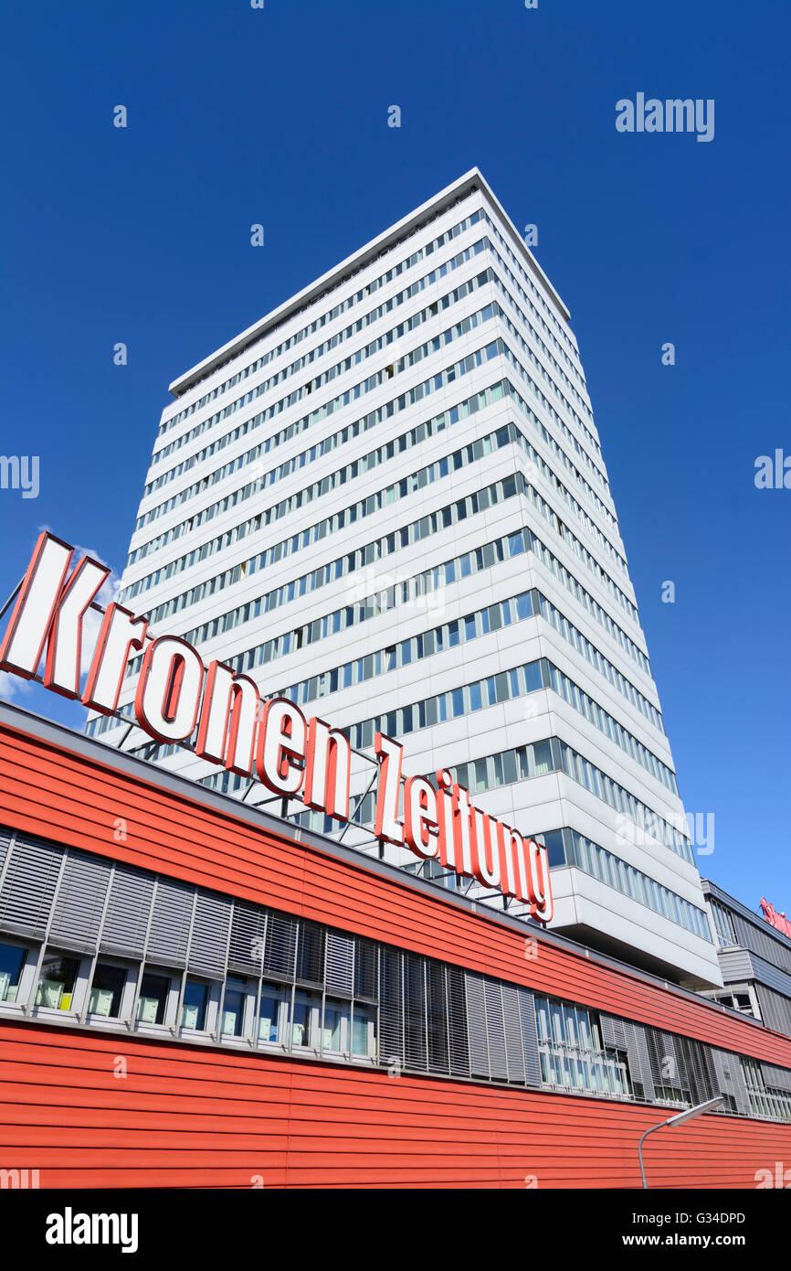 """Bureaux de rédaction de la """"Neue Kronen Zeitung"""", l'Autriche, Wien, 19., Wien, Vienne Photo Stock"""