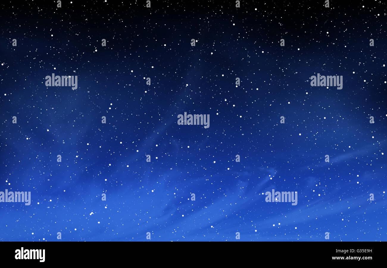 Ciel Profond avec de nombreuses stars de fond Photo Stock