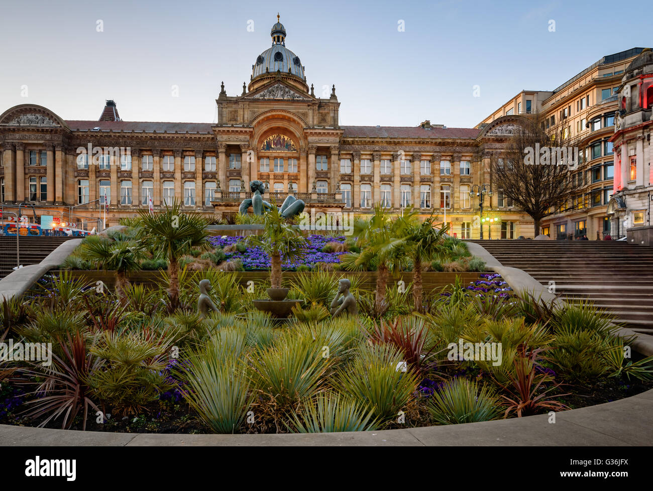 Le premier des hôtels de ville monumentale, qui marquera l'les villes de l'Angleterre Victorienne, Photo Stock
