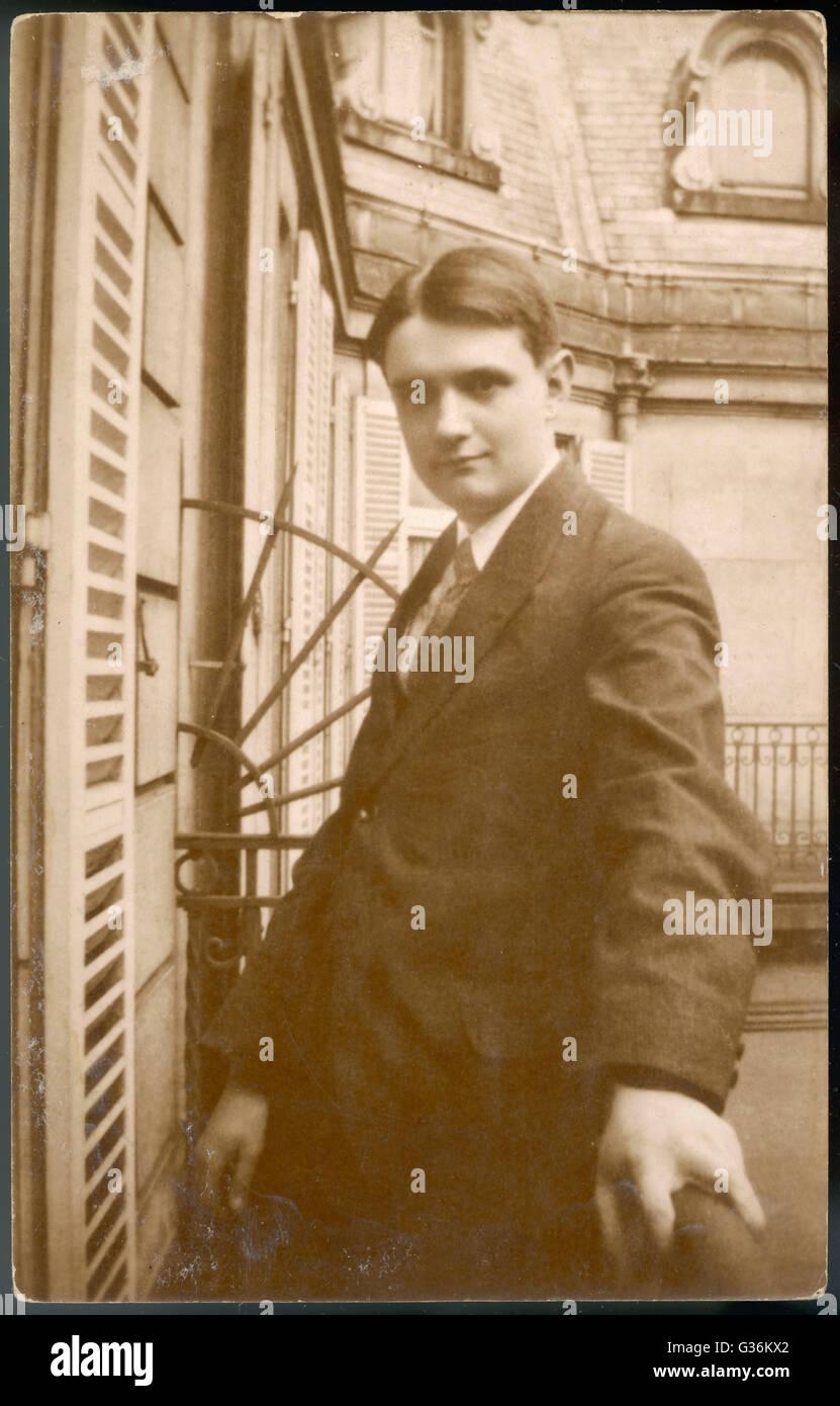 Georges Auric (1899 - 1983) compositeur français Photo Stock