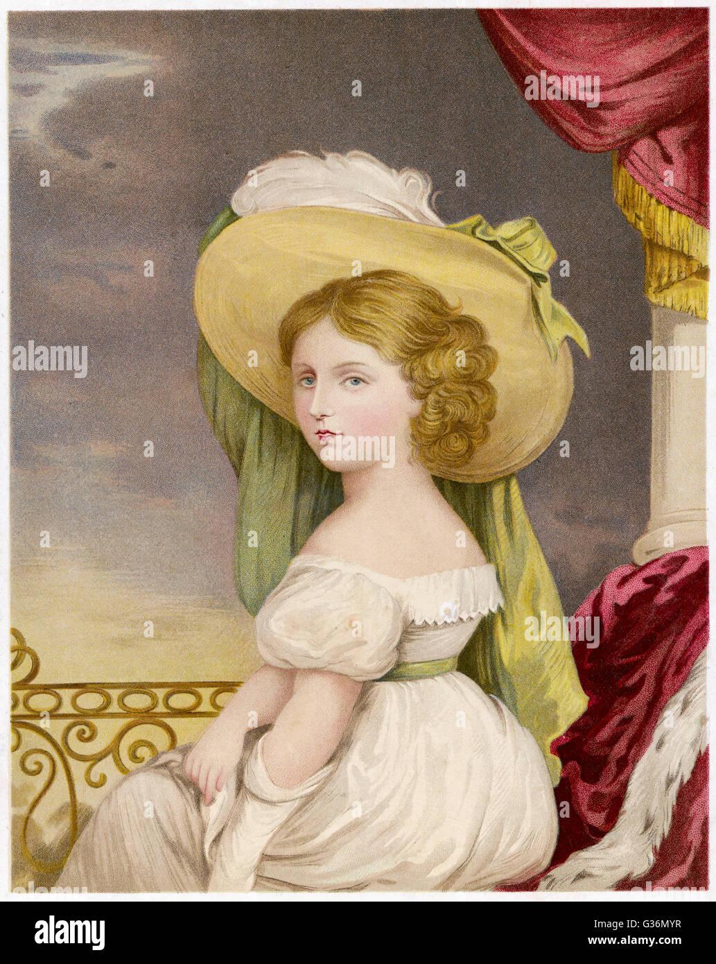 La princesse Victoria (1819-1901) à l'âge de 12 ans Photo Stock
