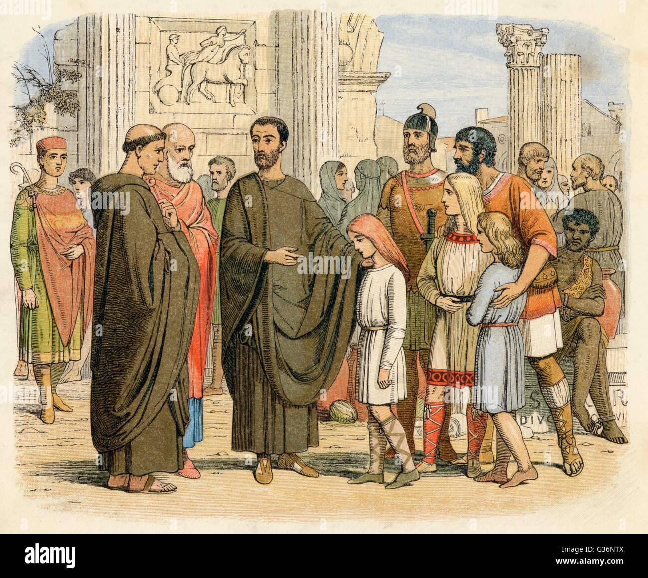 Le Pape Gregoire I Le Grand Voit Quelques Jeunes Esclaves Anglais A