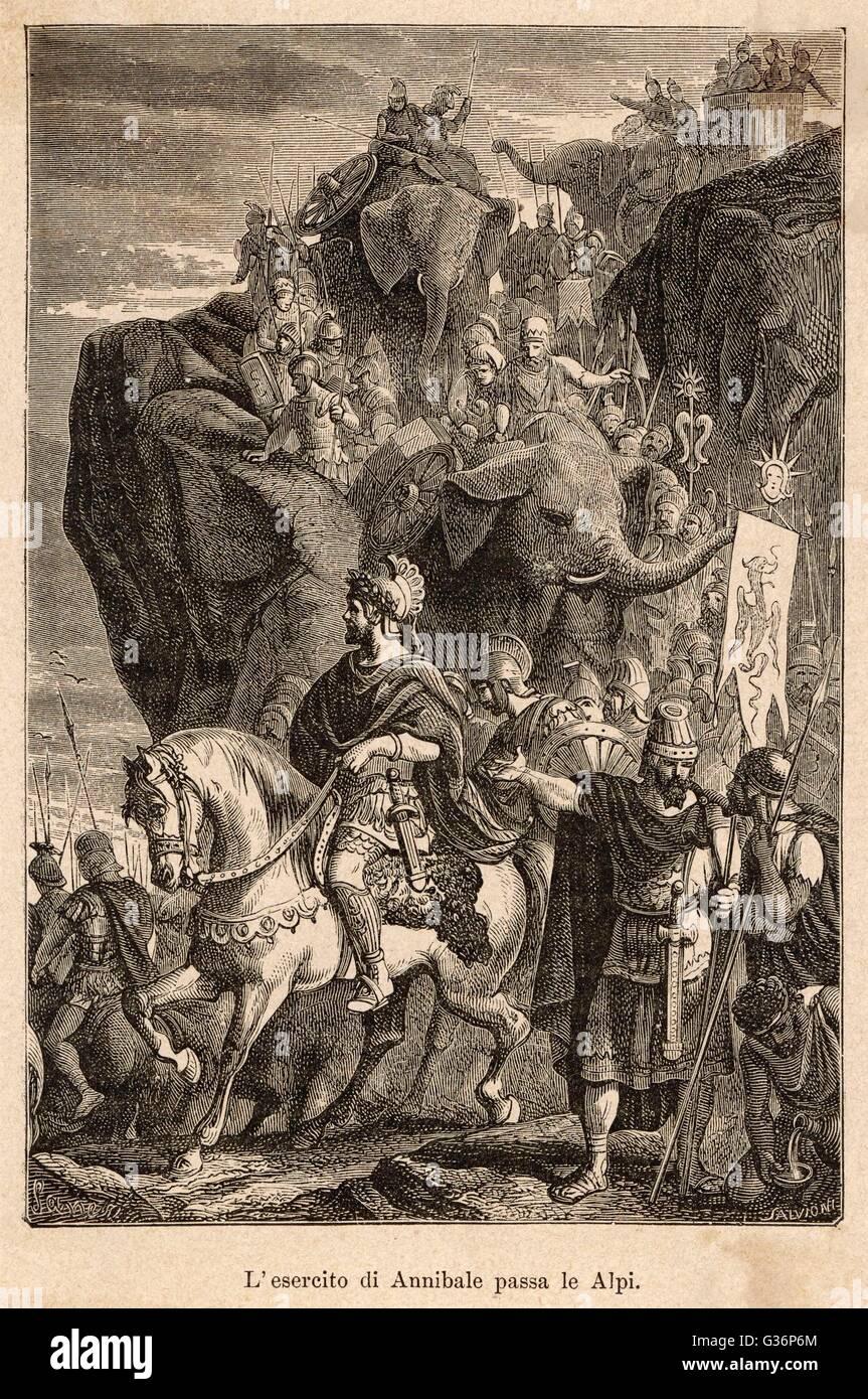 Deuxieme Guerre Punique Hannibal Le Chef Carthaginois En Ordre Decroissant En Italie Apres Avoir Traverse Les Alpes Avec Son Armee Y Compris Des Elephants De Guerre C Etait Un Long Voyage A