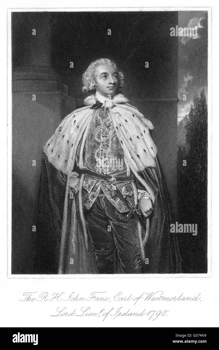 JOHN FANE, dixième comte de Westmorland, homme d'lord-lieutenant d'Irlande Date: 1759 - 1841 Banque D'Images
