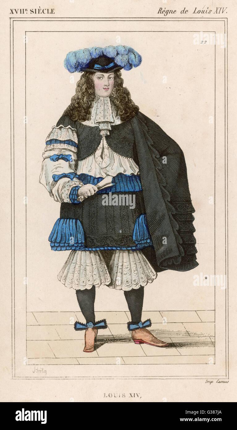 LOUIS XIV monarque français (photo datée 1660) Date: 1638 - 1715 Photo Stock