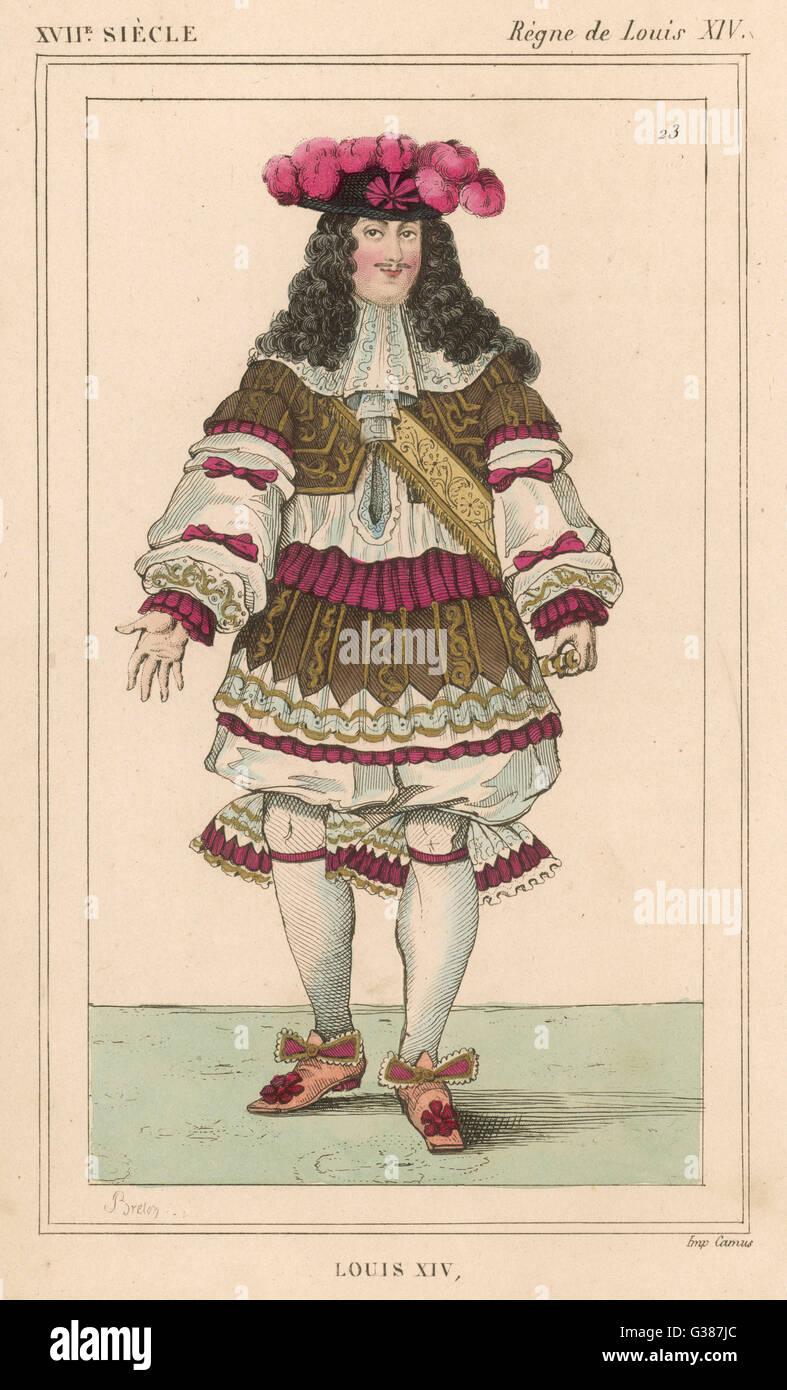 LOUIS XIV monarque français (photo datée 1670) Date: 1638 - 1715 Photo Stock