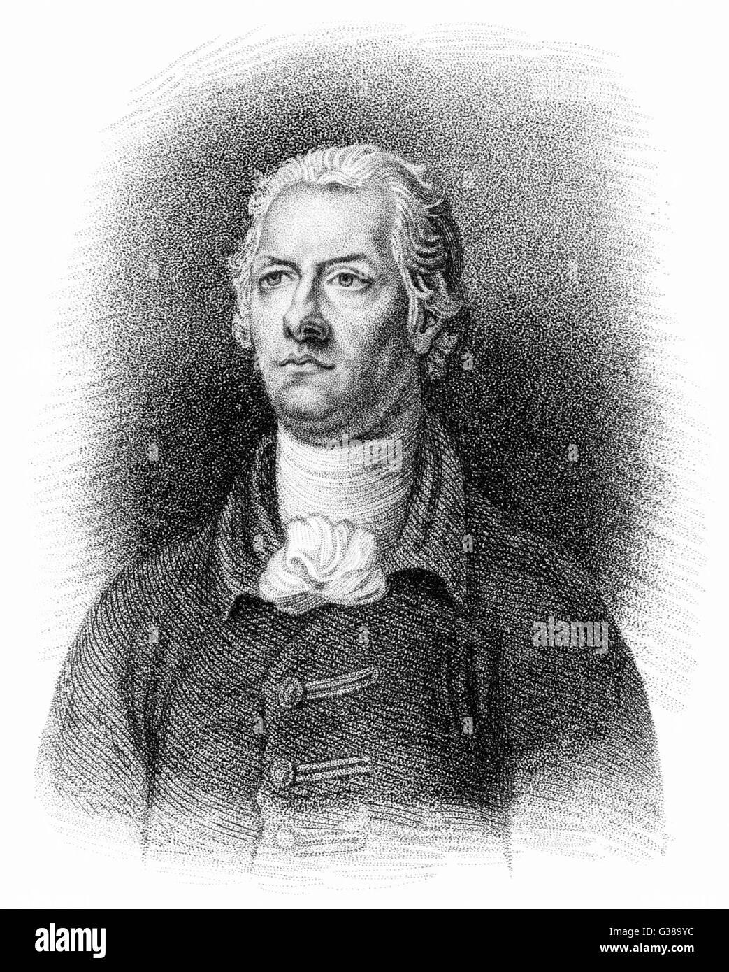 WILLIAM PITT Le jeune politicien anglais deuxième fils du 1er comte de Chatham Date: 1759 - 1806 Photo Stock