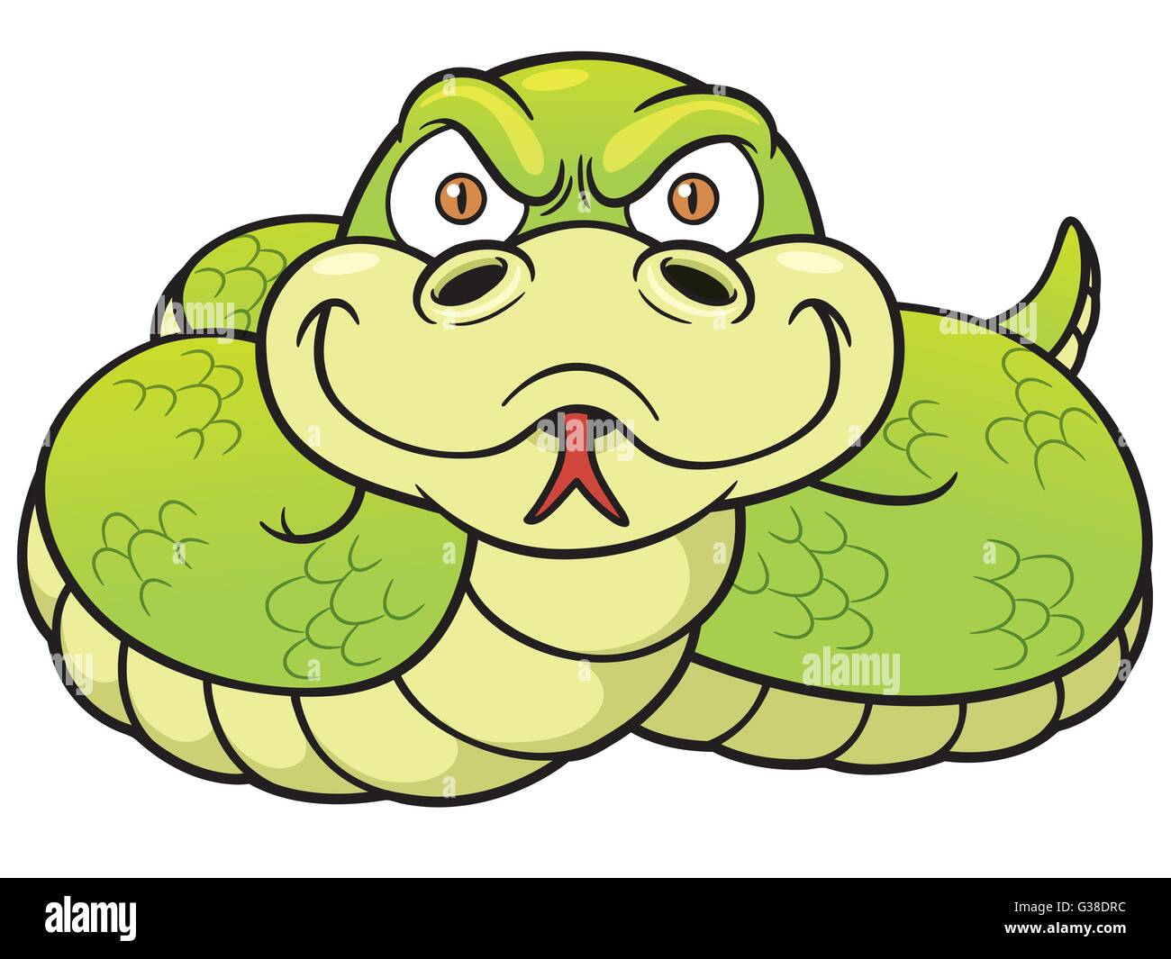 Dessin Animé Serpent vector illustration de serpent dessin animé vecteurs et illustration