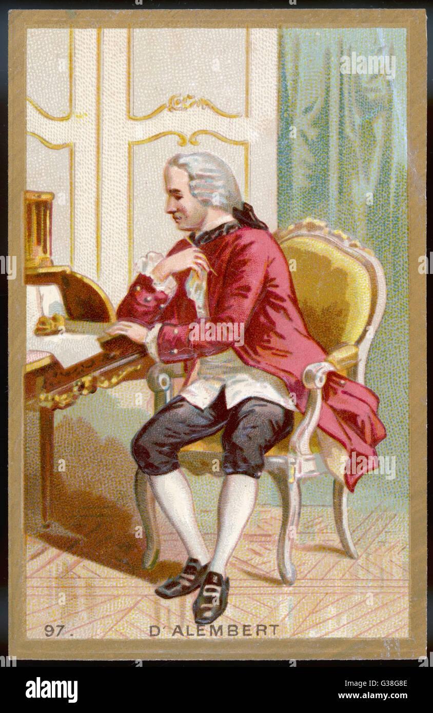 JEAN LE ROND D'Alembert scientifique français, philosophe et encyclopédiste Date: 1717 - 1783 Photo Stock