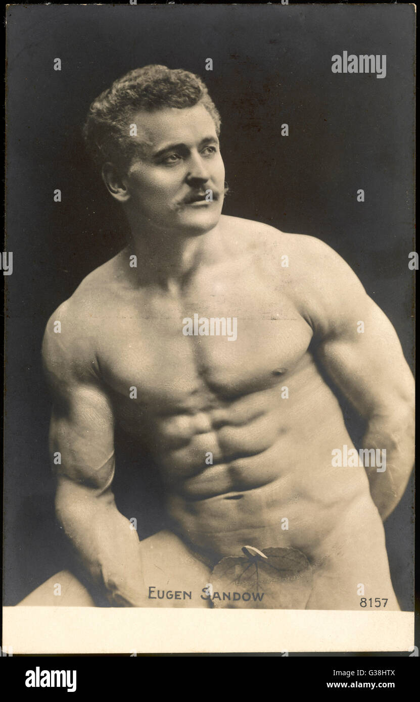 EUGEN SANDOW American exposant de forme physique Date : 1867 - 1925 Photo Stock
