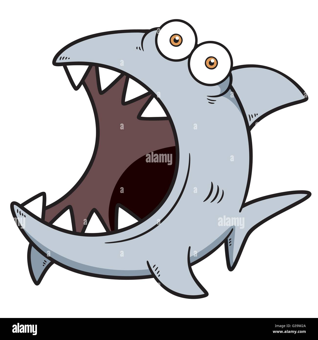 Illustration vecteur de dessin anim requin en col re vecteurs et illustration image - Requin en dessin ...
