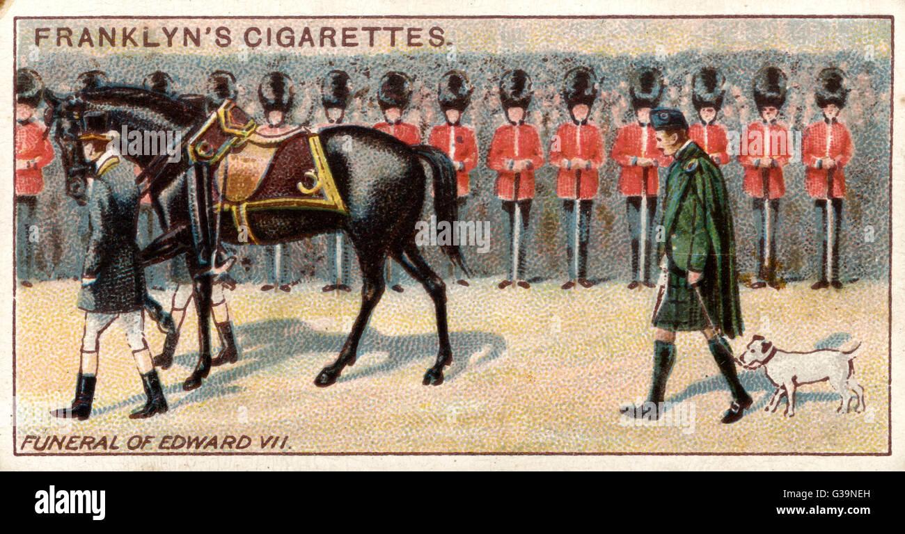Les funérailles d'Édouard VII Date: 20 mai 1910 Photo Stock