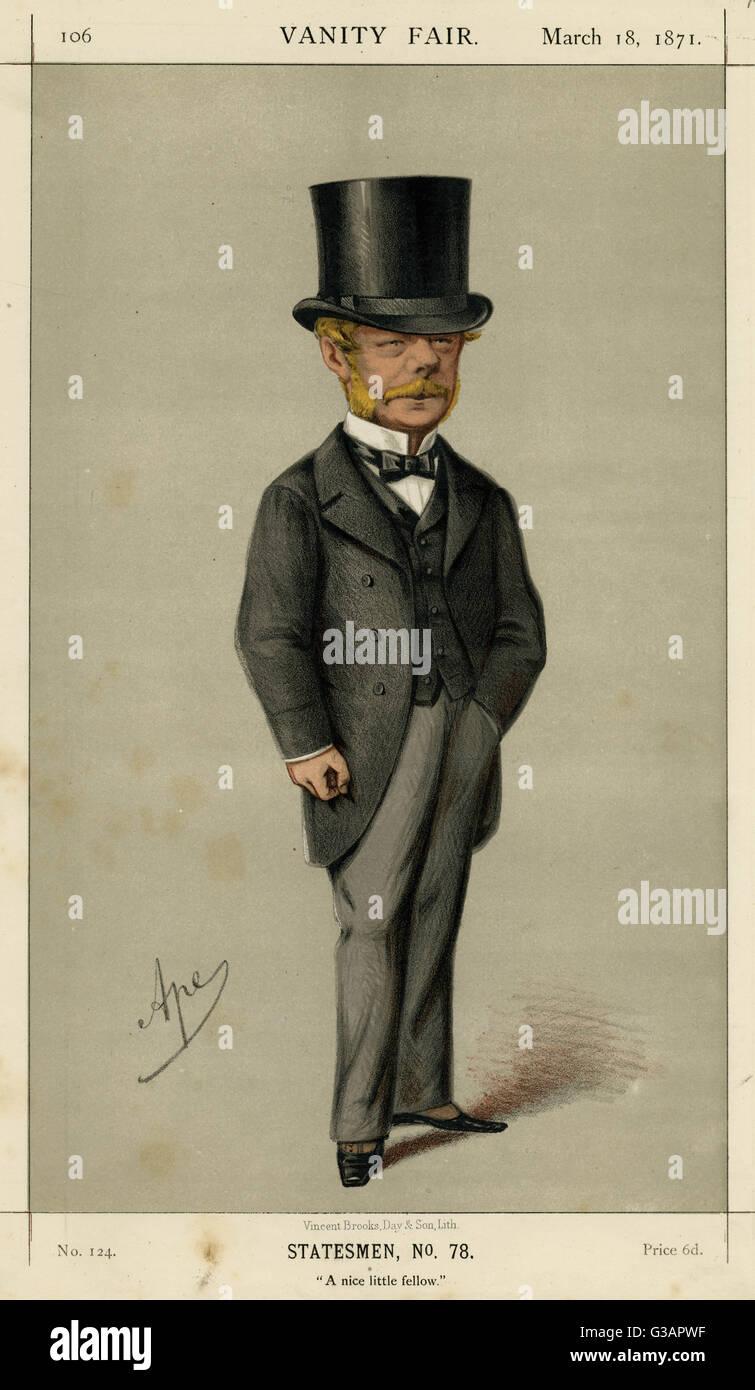 """L'Honorable Gerard James Noel (1823 1911), homme politique conservateur britannique. Légende: """"Un Photo Stock"""