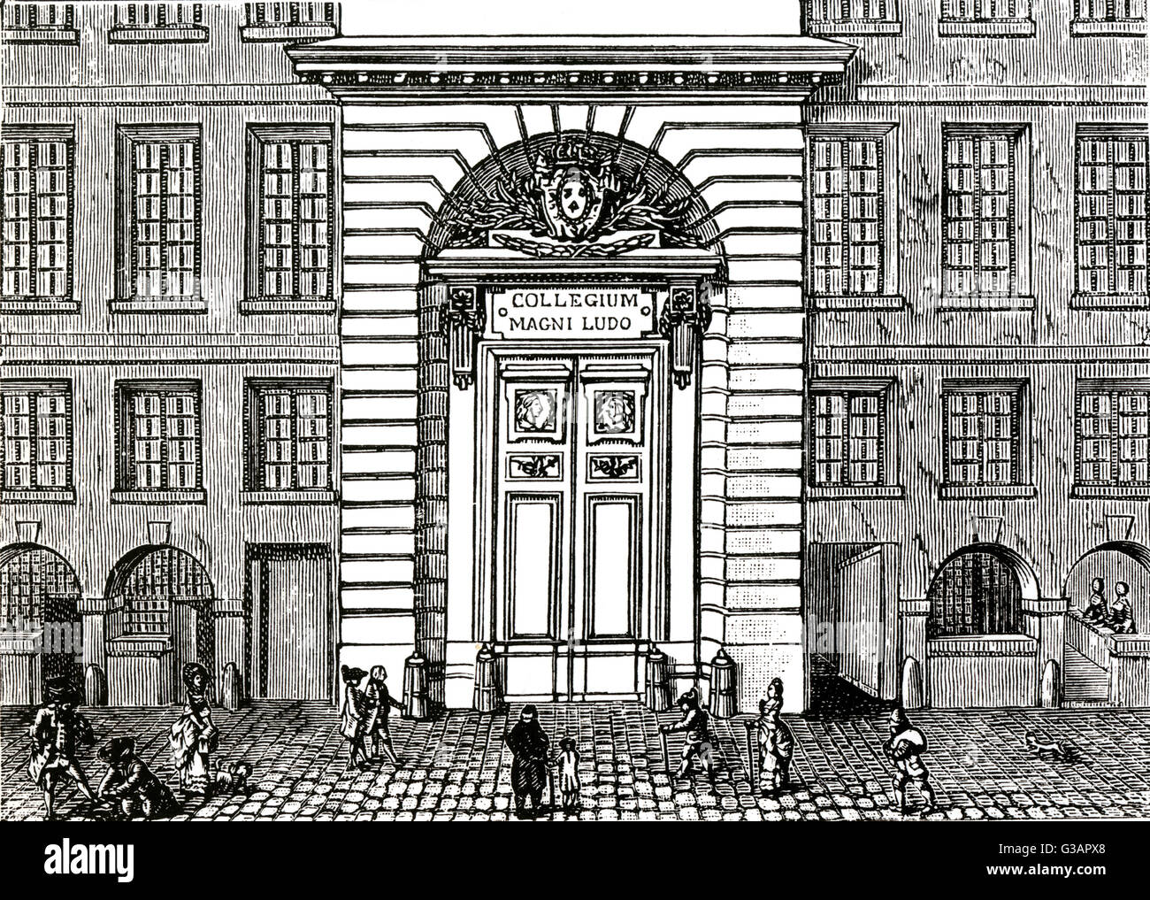 Paris, France - Collège Louis-le-Grand. Date : vers 1789 Banque D'Images