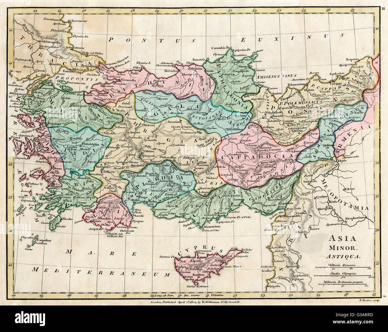 Site de l'Asie Mineure (Turquie) - dans l'antiquité - l'Empire Ottoman. Date: 1804 Photo Stock