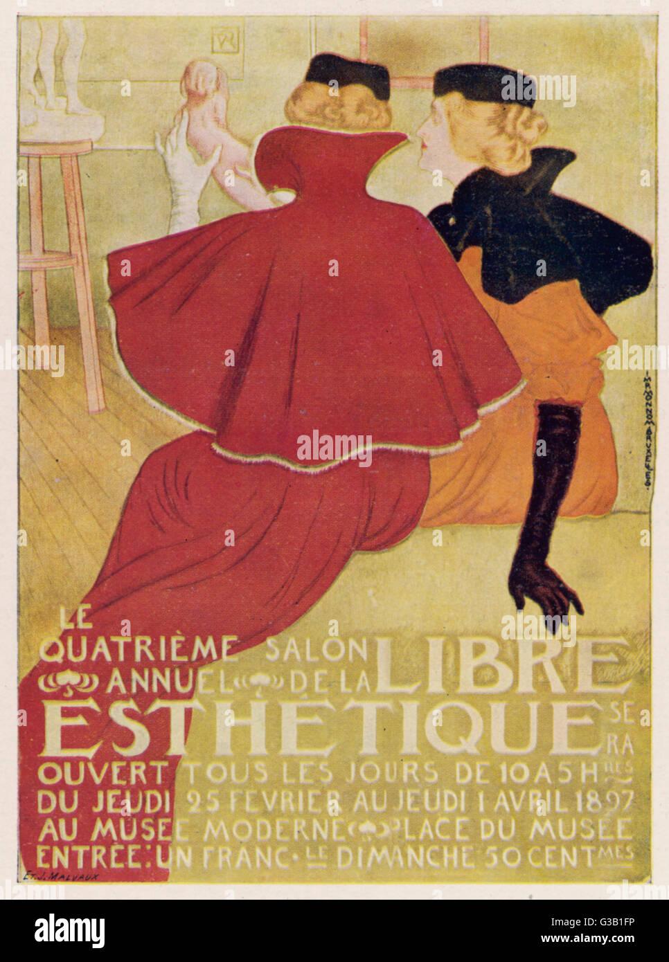 Affiche pour la Libre Esthétique, Bruxelles Date: 1897 Photo Stock