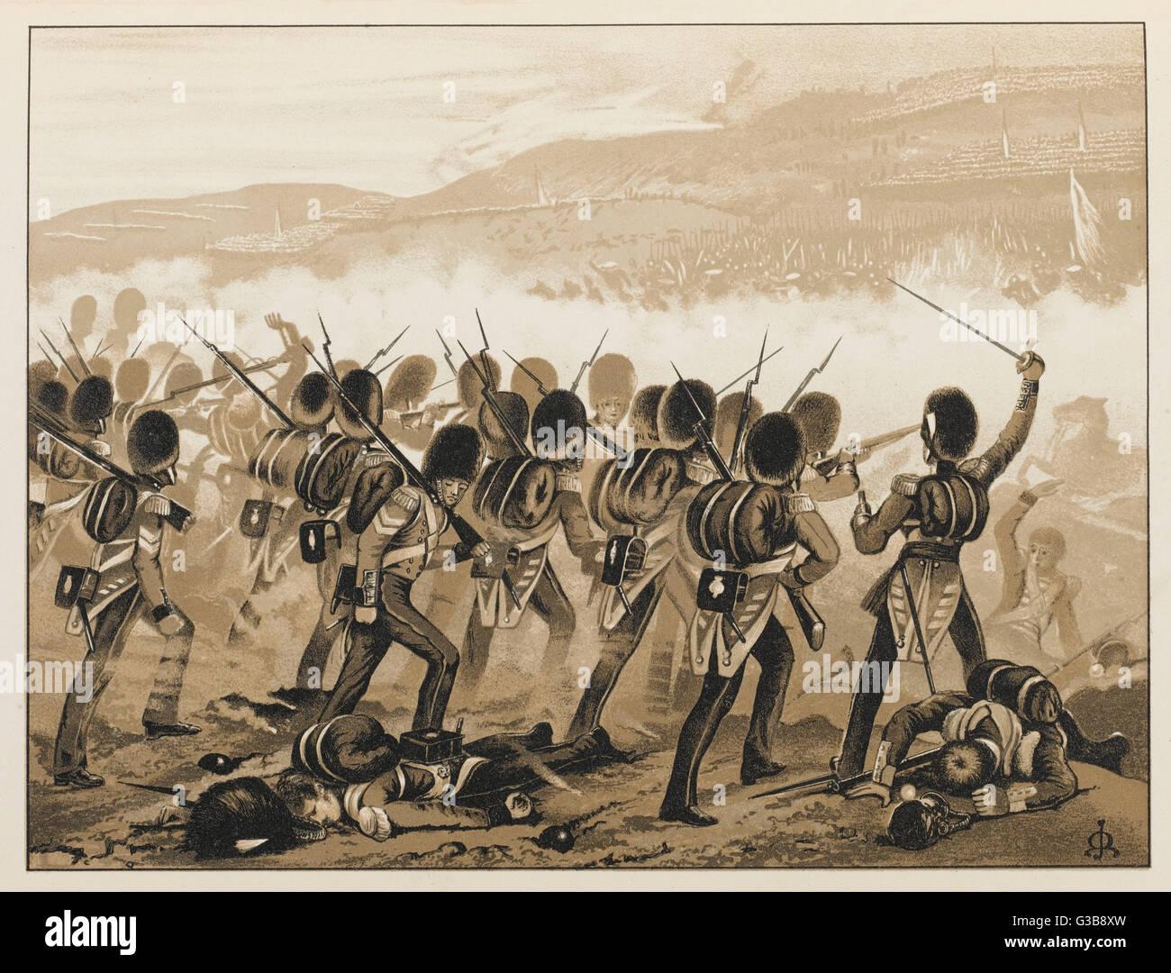 L'avance de les Grenadier Guards Date: 20 Septembre 1854 Photo Stock