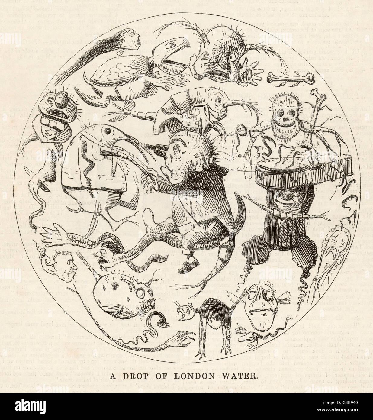 'Les MERVEILLES DE LONDRES UNE GOUTTE D'EAU' une goutte d'eau qu'il serait vu sous le « Photo Stock
