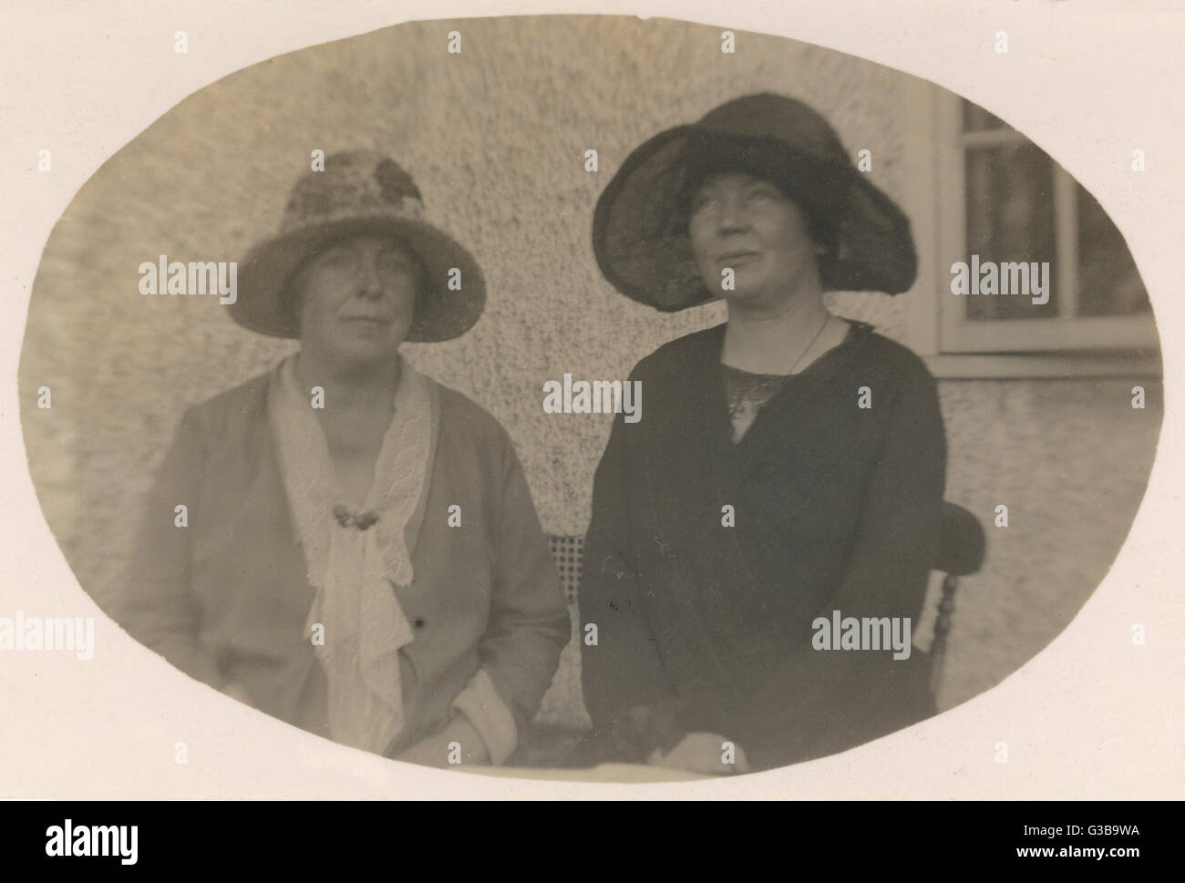 Annie Kenney &AMP; Sylvain Pankhurst. Date: vers 1930 Banque D'Images