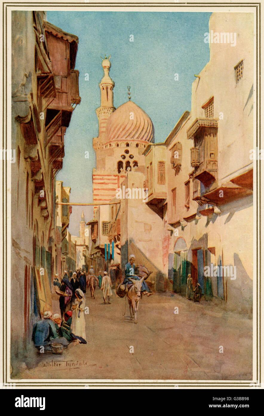 Le Caire: Suk-es-Sélah. Date: 1912 Photo Stock