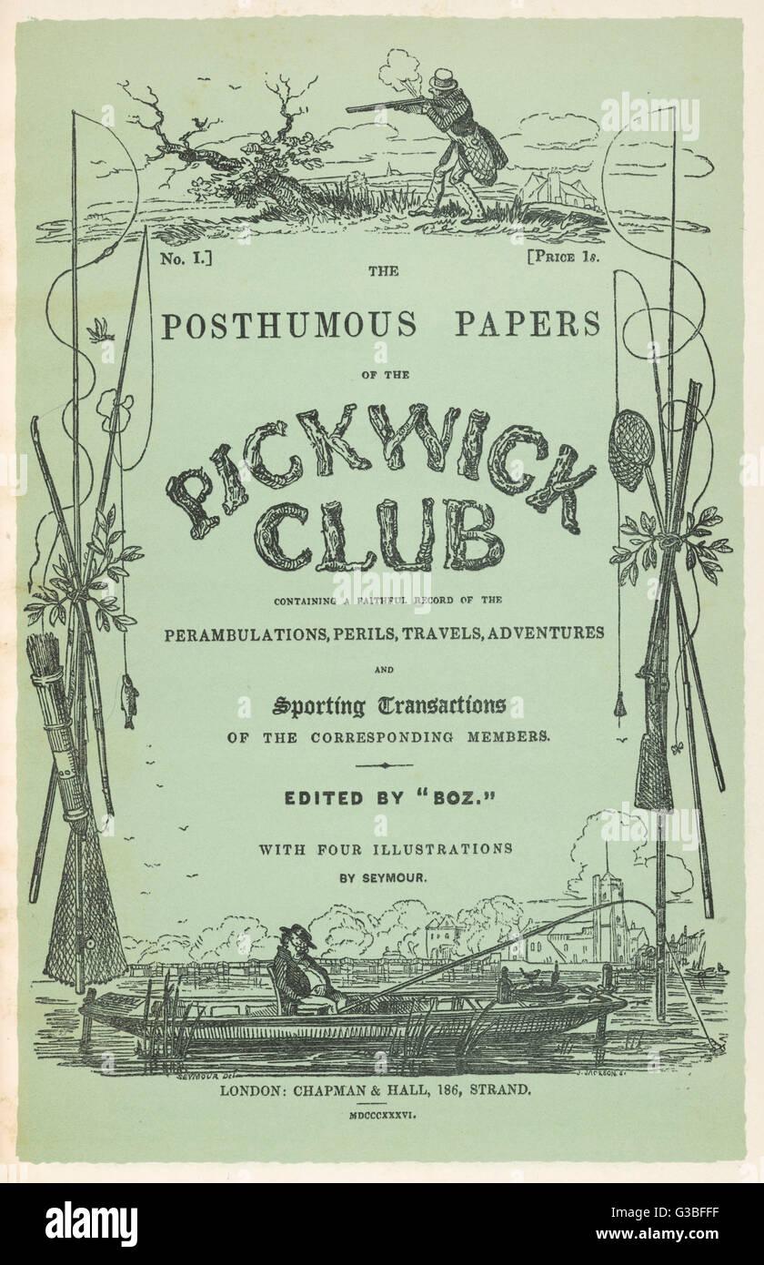 Couverture de la première édition avec des illustrations de Seymour, édité par Boz. Date: Photo Stock