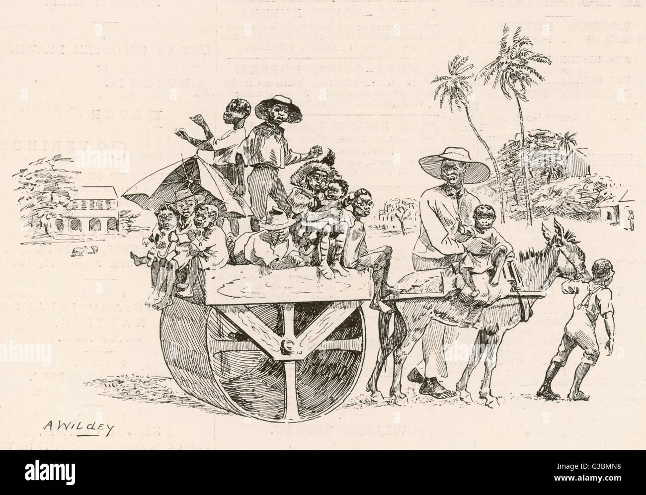 La hauteur de roulement en prévision de la saison de cricket dans les Antilles Date: 1895 Banque D'Images
