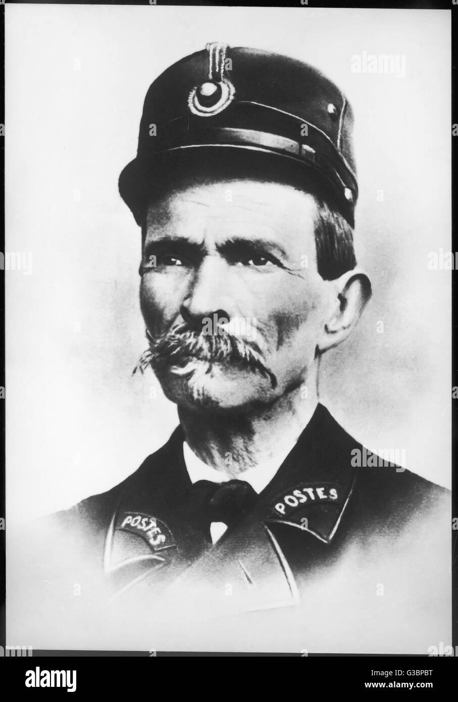 FERDINAND CHEVAL postier rural fantastique et architecte. Date: 1836-1924 Photo Stock