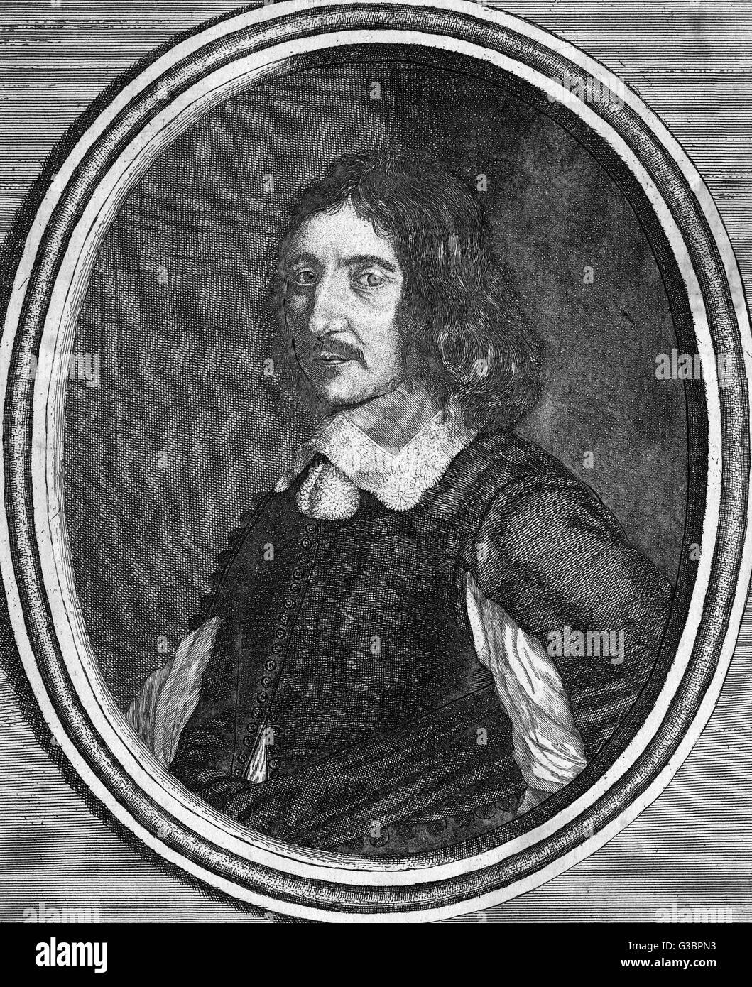 GEORGES DE SCUDERY auteur français de théâtre et de romances; governour de Nostre- Dame de Photo Stock