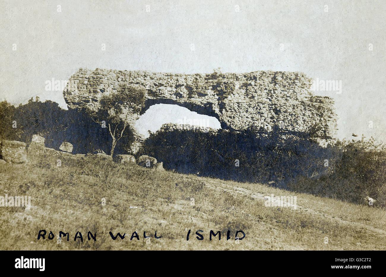 Izmit, Turquie - Vestiges d'un mur romain. Izmit (Nicomédie) a été la métropole de Bithynie Photo Stock