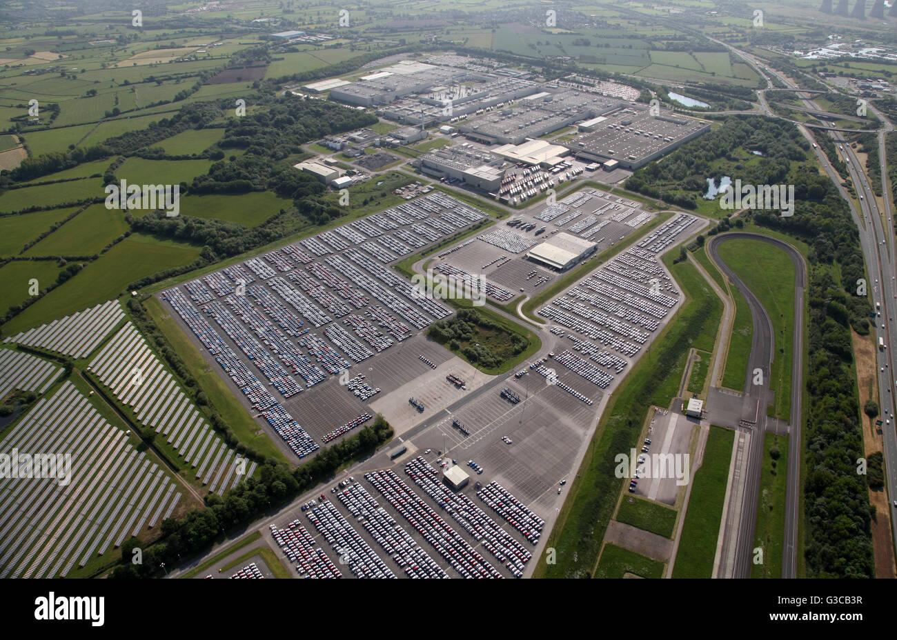 Vue aérienne de la voiture Toyota Motor Manufacturing plant production bear Derby, Royaume-Uni Photo Stock